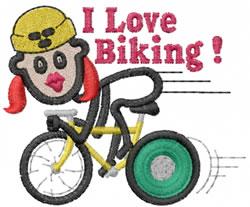 Bike Jane embroidery design
