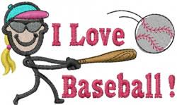 Baseball Player Jane embroidery design