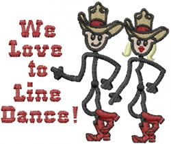 Line Dancers embroidery design