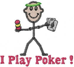 Poker Player Joe embroidery design
