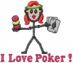 Gambler Jane embroidery design
