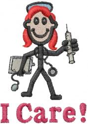 Nurse Jane embroidery design