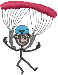 Sky Diving Joe embroidery design