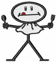 Hungry Stick Child embroidery design