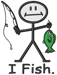I Fish embroidery design