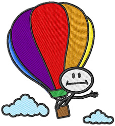 Hot Air Ballooning embroidery design