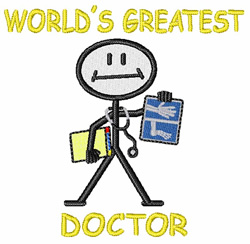 Worlds Greatest Doctor embroidery design