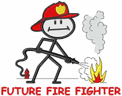 Future Fire Fighter embroidery design