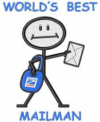 Worlds Best Mailman embroidery design