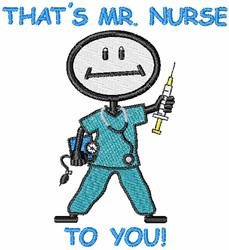 Mr Nurse embroidery design