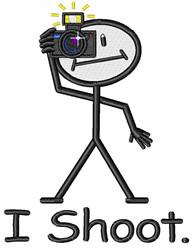 I Shoot embroidery design