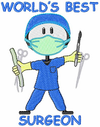 Worlds Best Surgeon embroidery design