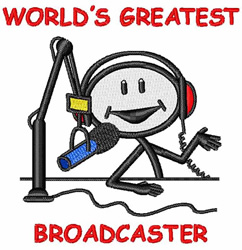 Broadcaster embroidery design