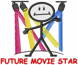 Future Movie Star embroidery design