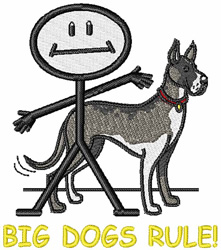Big Dogs Rule embroidery design