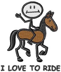Love To Ride embroidery design