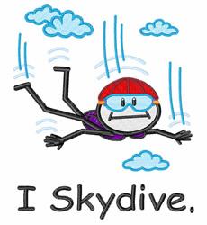 I Skydive embroidery design