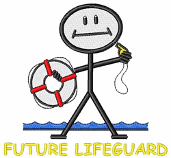 Future Lifeguard embroidery design