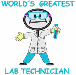 Lab Technician embroidery design