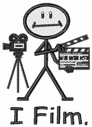 I Film embroidery design