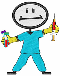 Phlebotomist embroidery design