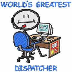 Worlds Greatest Dispatcher embroidery design