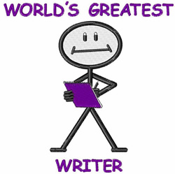 Worlds Greatest Writer embroidery design