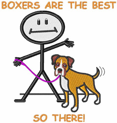 Boxers Are The Best embroidery design