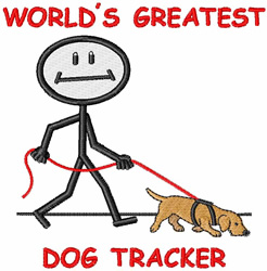Dog Tracker embroidery design