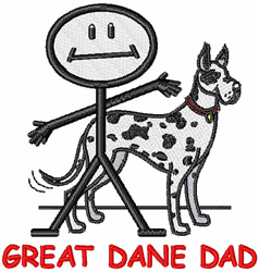 Great Dane Dad embroidery design