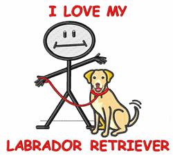 Love My Labrador Retriever embroidery design