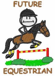 Future Equestrian embroidery design
