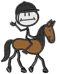 English Horse Rider embroidery design