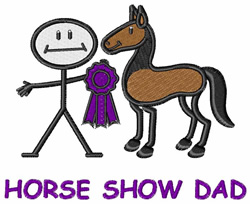 Horse Show Dad embroidery design