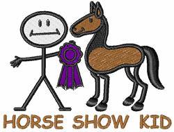 Horse Show Kid embroidery design
