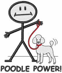 Poodle Power embroidery design