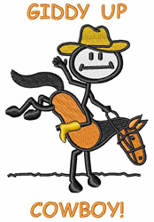 Giddy Up Cowboy embroidery design