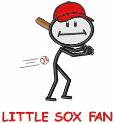 Little Sox Fan embroidery design