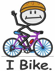 I Bike embroidery design