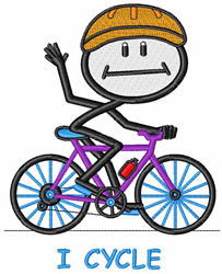 I Cycle embroidery design