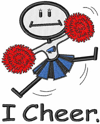 I Cheer embroidery design