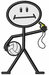 Volleyball Coach embroidery design