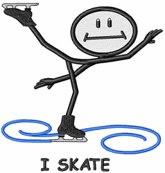 I Skate embroidery design
