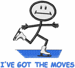 Ive Got The Moves embroidery design