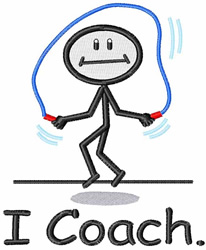 I Coach embroidery design