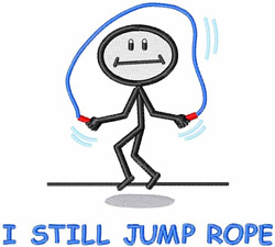 I Still Jump Rope embroidery design