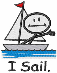 I Sail embroidery design