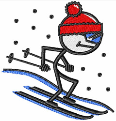 Ski Down Hill embroidery design