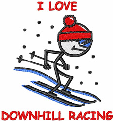 Downhill Racing embroidery design
