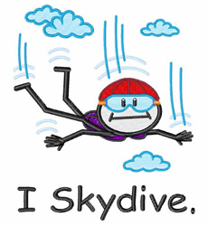 I Skydive embroidery design